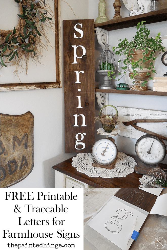 Free Printable and Traceable Letters for Making Farmhouse Style Signs - Lowercase