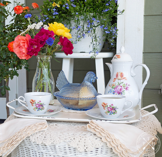 Spring Tea on the Balcony