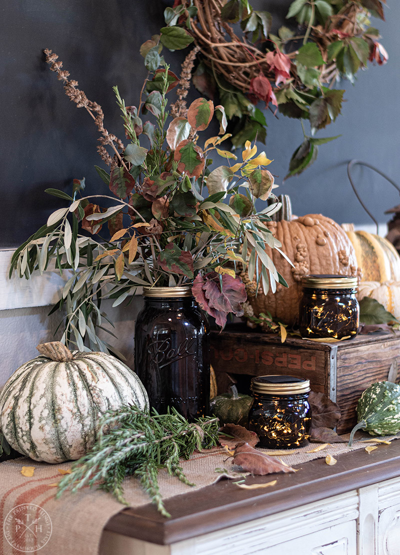 How To Use Amber Mason Jars In Fall Decor