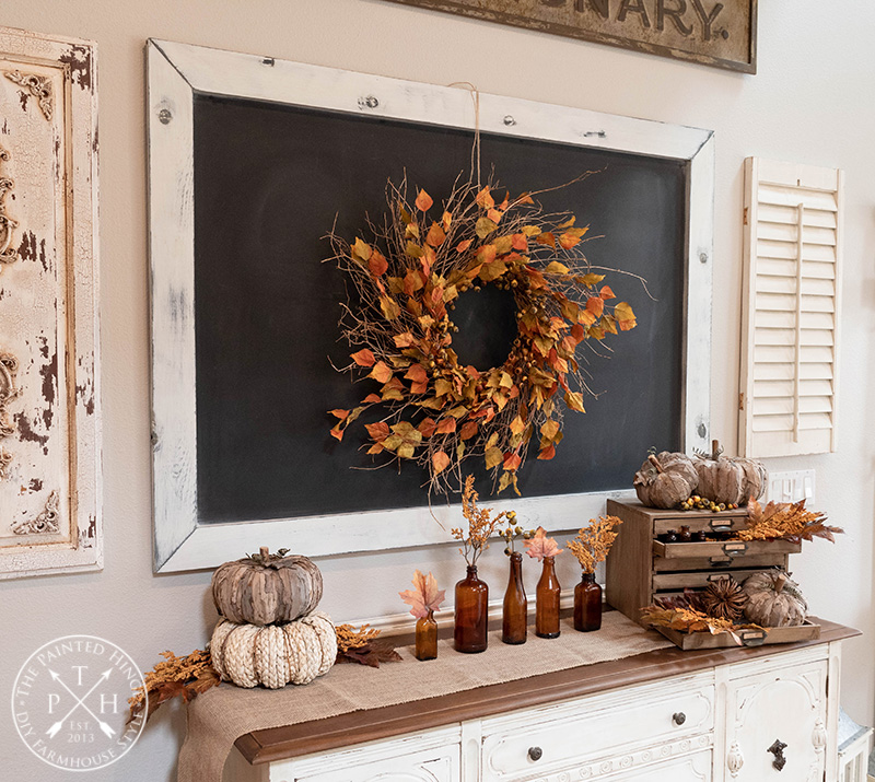 Upcycled Fall Wreath