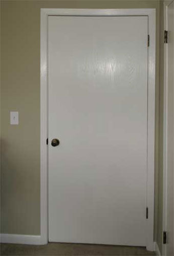 The Painted Surface Painting A Plain Flat Door
