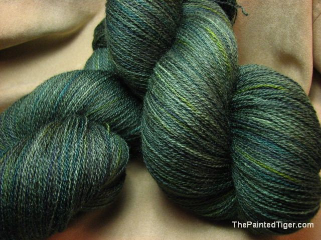 Kettle Dyed Pine Forest Zephyr Lace Yarn