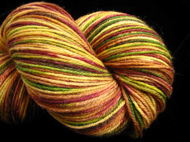 Pine & Burgundy - Hand Dyed Superwash Merino Wool & Nylon Sock Yarn
