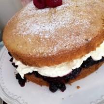 Blackcurrant cream cake