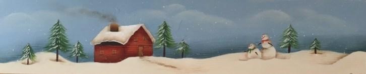 Winter on the hillside