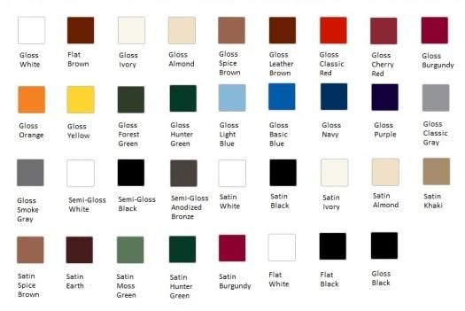 Rust Protector Enamel Spray Color Chart
