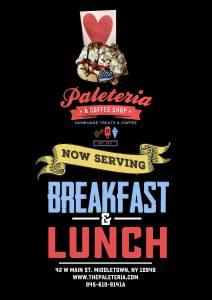 New Serving Breakfast & Lunch