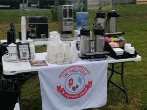 Mobile Coffee and Barista Bar Catering at Outdoor Public Event.