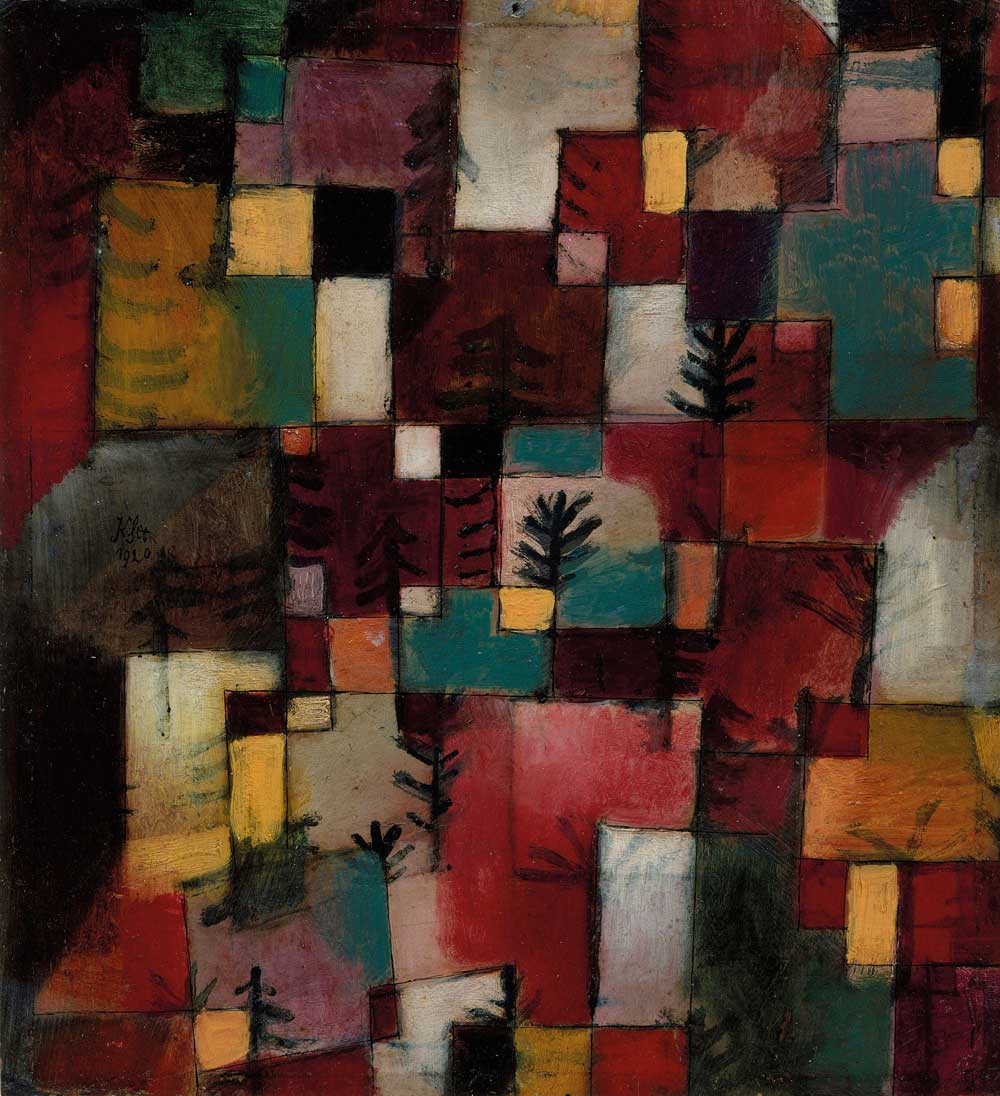 Redgreen and Violet-Yellow Rhythms (detail; 1920), Paul Klee, Image © The Metropolitan Museum of Art / Source: Art Resource/Scala Photo Archives
