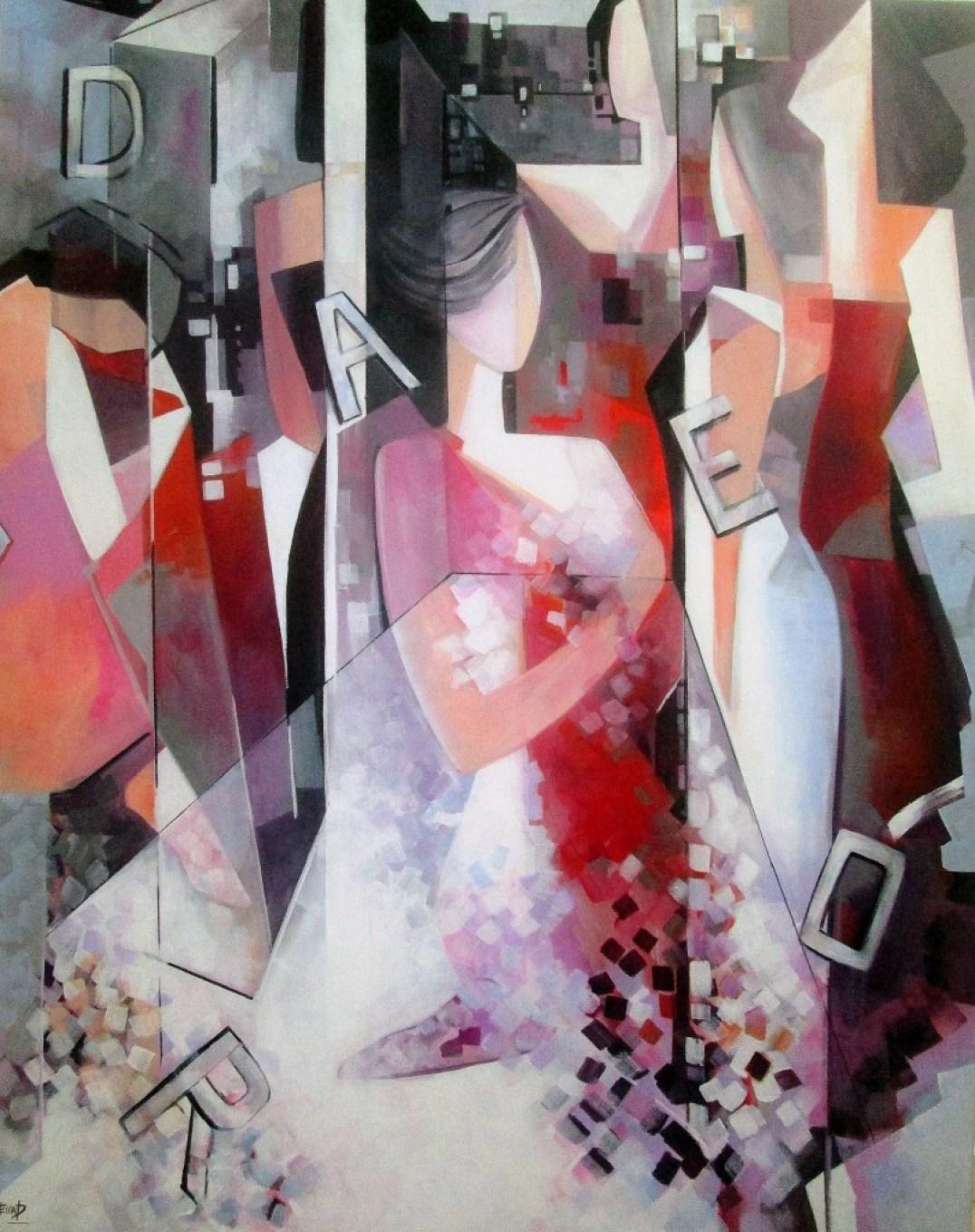 Adore 130 x 100 cm Acrylic on canvas