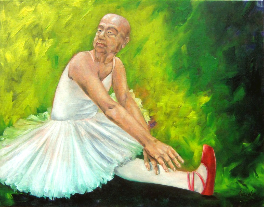 Wee man, rogue or dancer- oil on canvas - 70x90cm