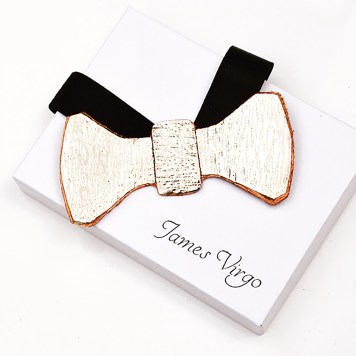 PP IMAGE 12 SILVER COATED BRONZE BOW TIE) LR