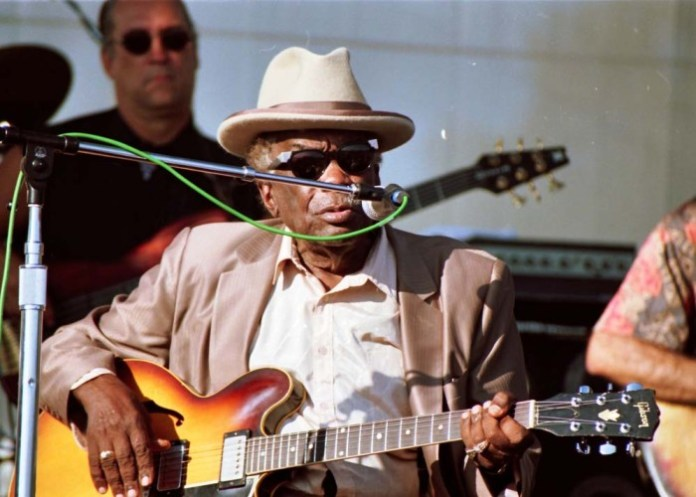 Legendary bluesman John Lee Hooker. Photo by Sumori.