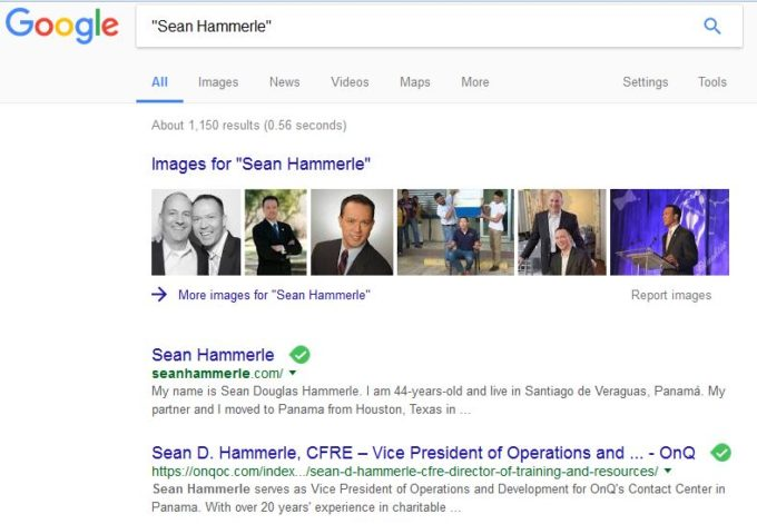 Sean on google