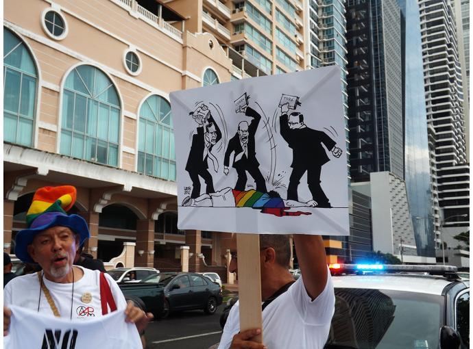 Pride parade past