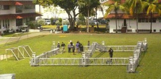 stage crew started earlier in the week