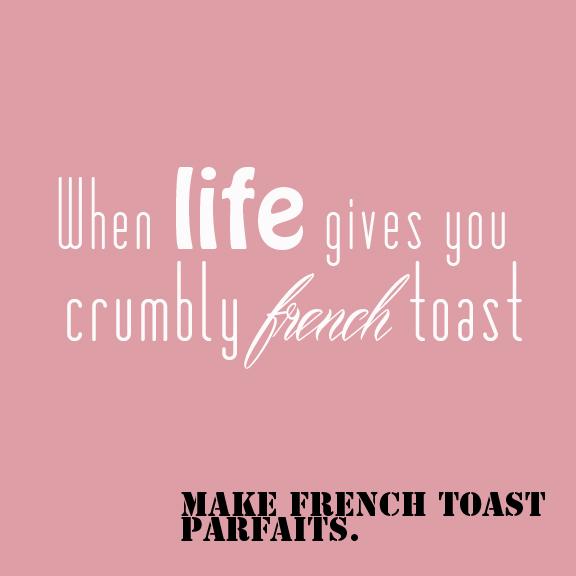 Banana Bread French Toast Parfaits