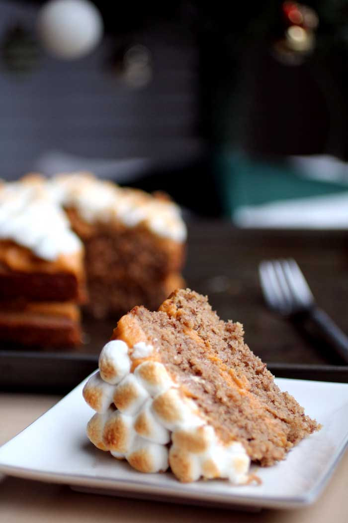 Pecan Cake with Sweet Potato Frosting // The Pancake Princess