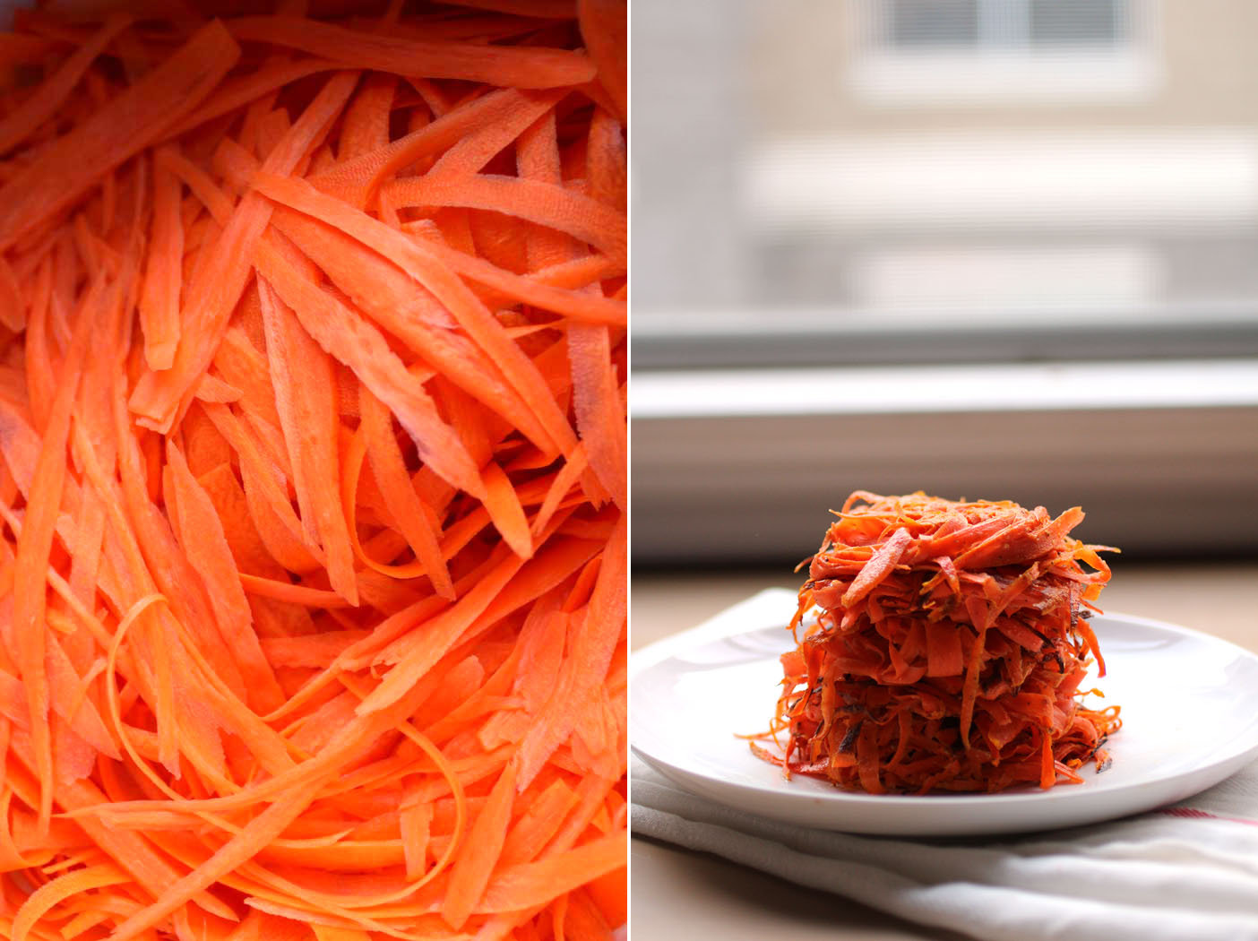 Carrot fritters // The Pancake Princess