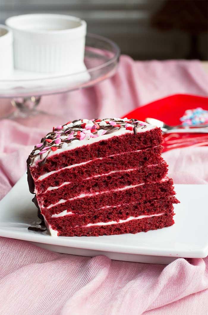 A Single Slice: Red Velvet Layer Cake // The Pancake Princess