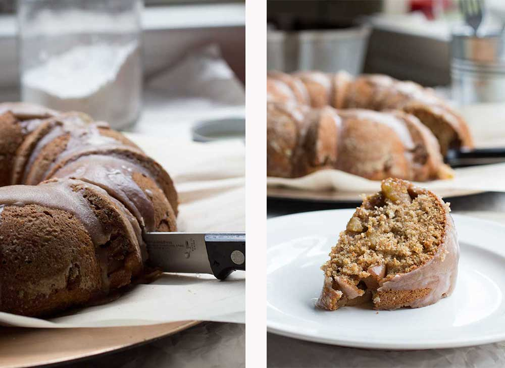 Whole Wheat Apple Pie Bundt Cake // The Pancake Princess