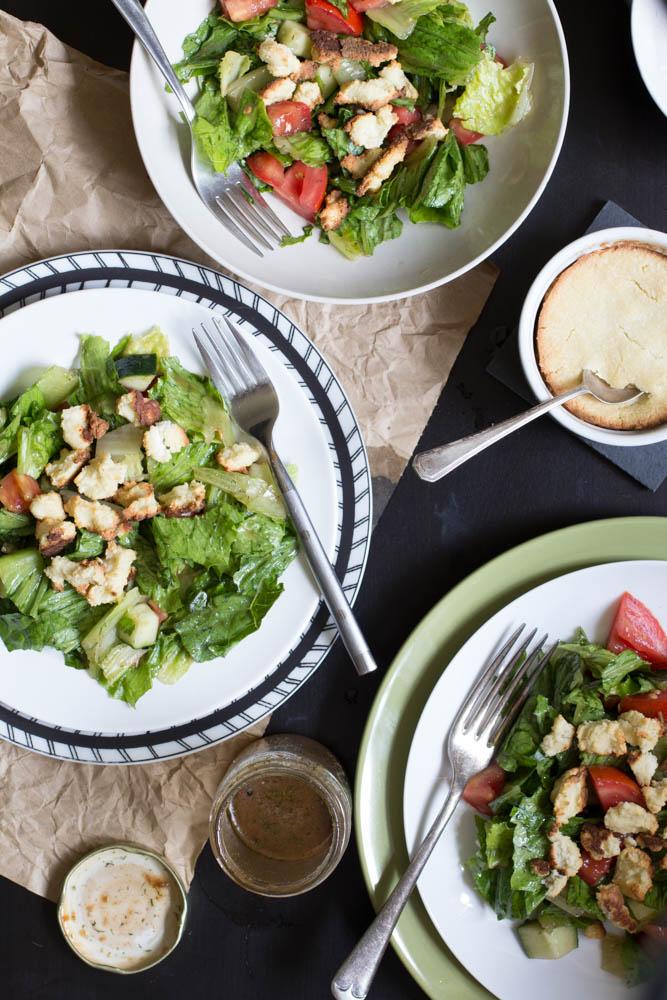 Vegan Greek Salad // The Pancake Princess