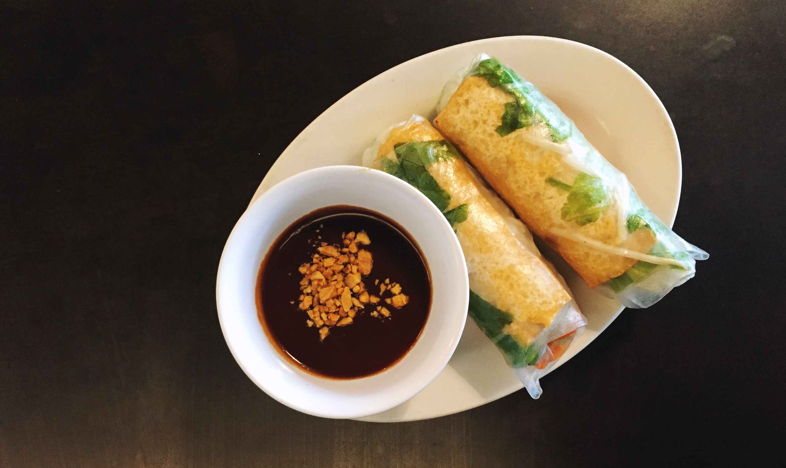Tofu spring rolls from Red Pier Asian Bistro.