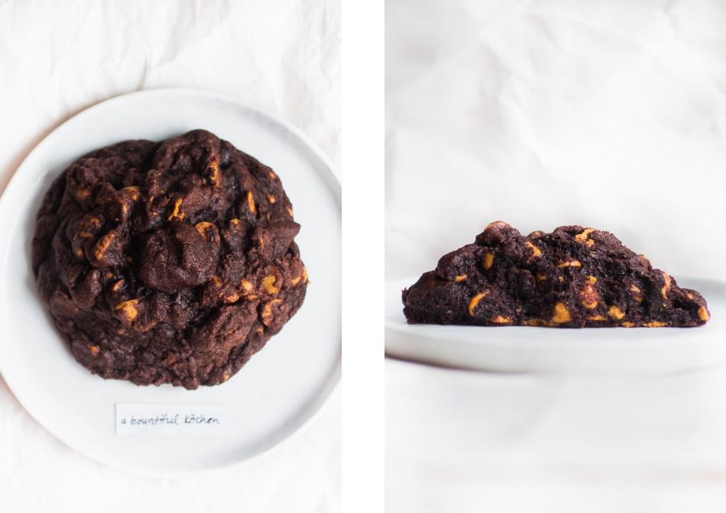 levain dark chocolate peanut butter cookie a bountiful kitchen
