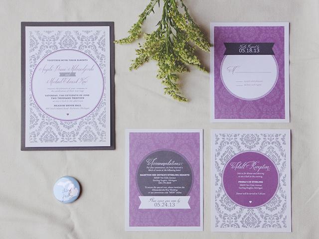 A M Wedding Invitation
