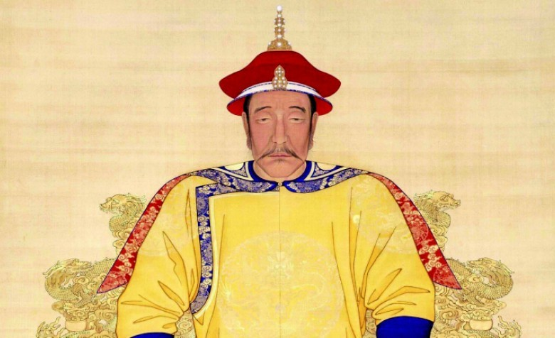 Portrait of Nurhaci, Machurian chieftain credited with the legacy of the 8-banner system; painting from Palace Museum Beijing