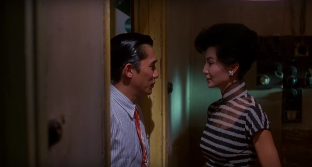 """Obsessed with """"In the Mood for Love""""? The black and white chiffon qipao (cheongsam) from the complete list of 20 qipaos from the film. Click the link for more -"""