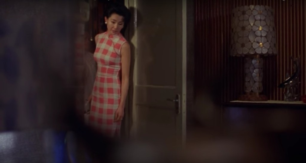 """Obsessed with """"In the Mood for Love""""? The red and white checked qipao (cheongsam) from the complete list of 20 qipaos from the film. Click the link for more -"""