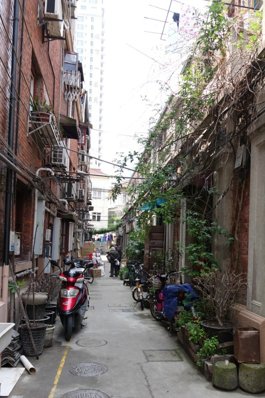 Branch lane (or side lane) of an old Shanghai lane house