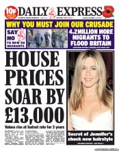 Daily Express (UK) Front Page for 7 November 2013 ...