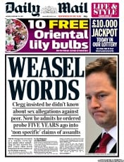 UK Newspaper Front Pages for Monday, 25 February 2013 ...