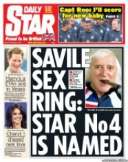 Daily Star Newspaper Front Page (UK) for 12 October 2012