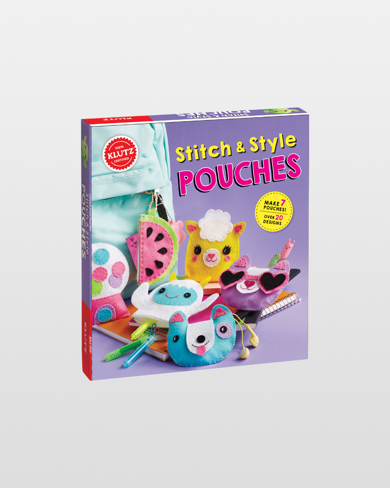 Klutz Stitch And Style Pouches Activity Book The Paper Store