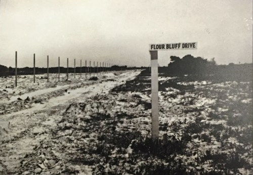 Fence line at the construction site of Naval Air Station Corpus Christi, July 1940, Lexington Road and Flour Bluff Drive Source: National Naval Aviation Museum