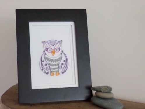 Quilled Owl Frames