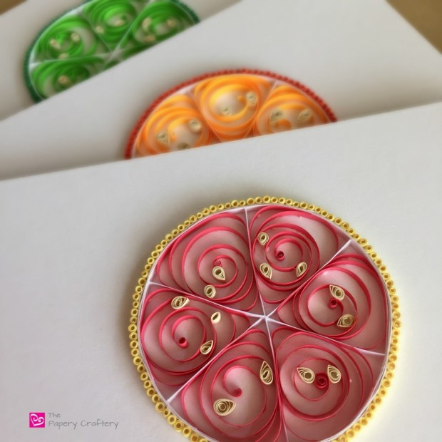 quilled paper grapefruit lime orange