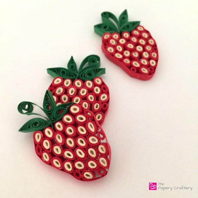 strawberry quilling minis - How to use quilling for scrapbooking