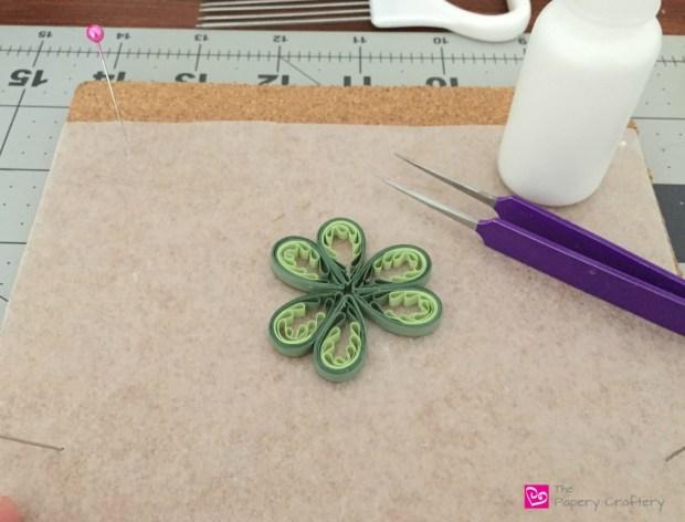 Quilling Paper 3 Leaf Clover