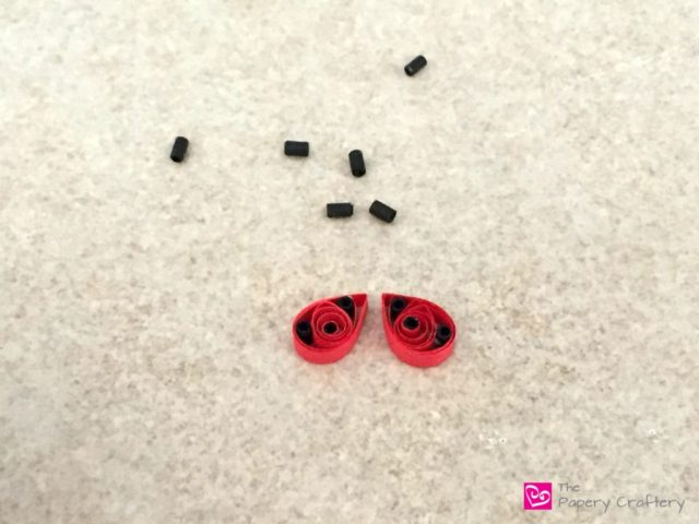 Quilling Paper Ladybug Wings - Quilling Paper Ladybugs