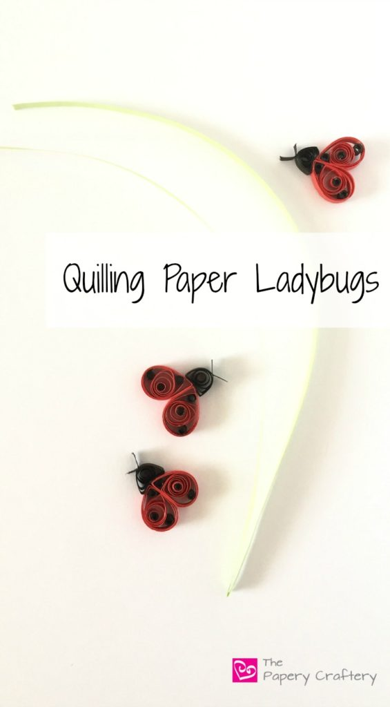Quilling Paper Ladybugs
