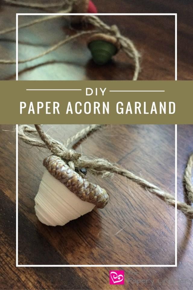 DIY Paper Acorn Garland