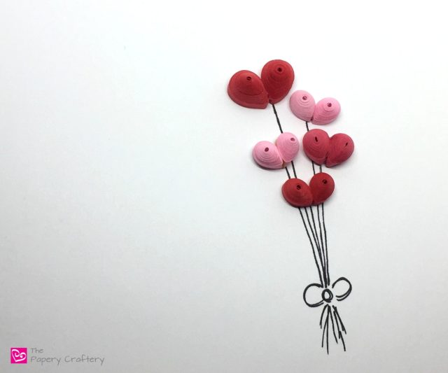 3-D Quilling Paper Hearts
