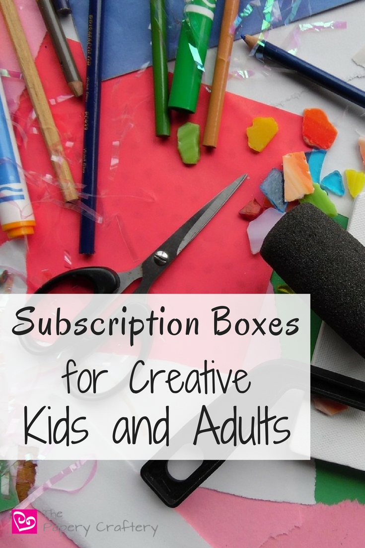 Monthly subscription boxes for creative kids and adults || www.thepapeyrcraftery.com