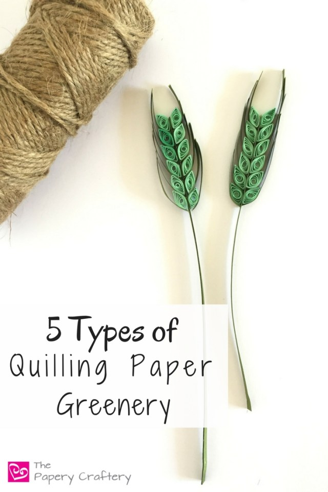 5 Types of Quilling Paper Greenery ~ Simple leaves, ferns and other types of greenery to add a little style and realism to your quilling paper flower designs || www.thepaperycraftery.com