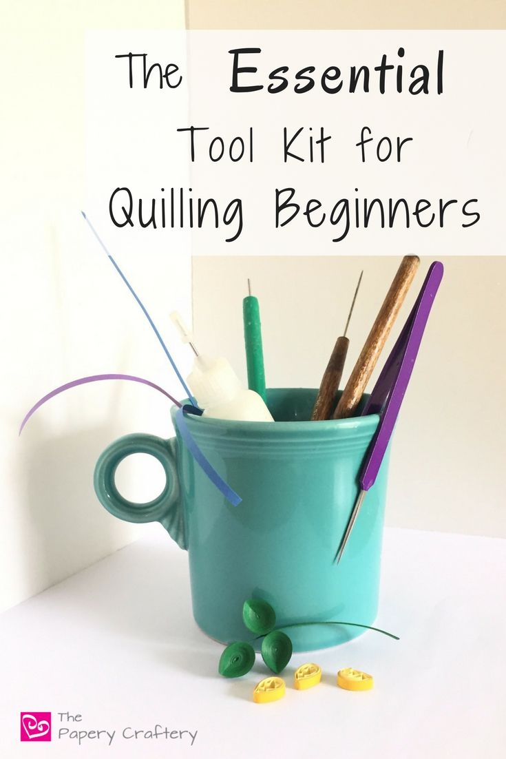 The Essential Tool Kit for Quilling Beginners ~ Start quilling paper with just a few inexpensive supplies! || www.thepaperycraftery.com