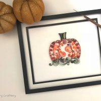 Quilling Paper Pumpkin